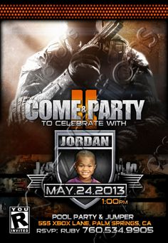 Call of duty ghosts invitation birthday party by digiparty on etsy black ops call of duty invitations by kidzvitations on etsy 1300 filmwisefo