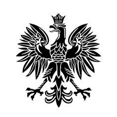 Polish Eagle Poland Emblem Bird graphics by vectordesign on Zibbet