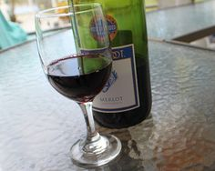 Love Red Wine! I think it's funny that the original poster posted this while the glass slightly hides a bottle of Barefoot Merlot :)