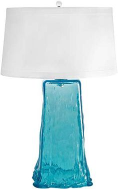 Wave Lamp from Recycled Glass | Jaya Furniture  I love glass of all kinds.  What else would I use for a lamp!!