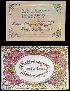 GERMAN TAUFSCHEIN OR TAUFBRIEF FRAKTUR - SIGNED BY GODPARENT - 1865…
