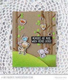 Sweet Forest Friends, Sweet Forest Friends Die-namics, Birch Trees Die-namics, Stitched Valley Die-namics - Yoonsun Hur  #mftstamps