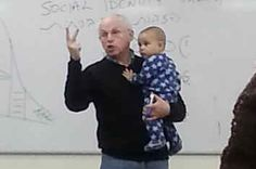 When A Students Baby Started Crying In Class, This Professor Did The Most Awesome Thing