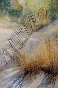 Snow Fence Painting by Sandra Strohschein