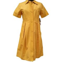 """Pre-owned Marc By Marc Jacobs """"mustard""""color Of The Season Size 6... (€97) ❤ liked on Polyvore featuring dresses, mustard dress, marc by marc jacobs dress, preowned dresses, marc by marc jacobs and pre owned dresses"""