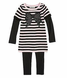677039e7fed8 Pippa and Julie 2T6X Striped SweaterKnit Tunic and Leggings Set #Dillards  Dillards