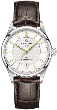 Certina Watch DS-8 #bezel-fixed #bracelet-strap-leather #brand-certina #case-material-steel #case-width-39mm #date-yes #delivery-timescale-call-us #dial-colour-silver #gender-mens #luxury #movement-automatic #official-stockist-for-certina-watches #packaging-certina-watch-packaging #style-dress #subcat-ds-8 #supplier-model-no-c033-407-16-031-00 #warranty-certina-official-2-year-guarantee #water-resistant-100m