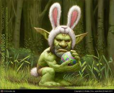 CGTalk - Easter Goblin, Bobby Chiu (2D)