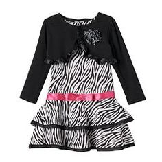 Toddler Girl Nannette Shrug & Zebra Print Dress Set