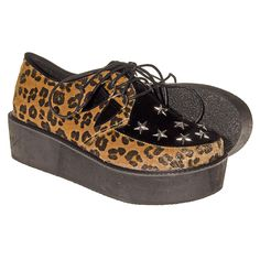 c77e2436c15b Blue Banana Leopard   Stars Creeper Shoes (Multi) Creeper Shoes