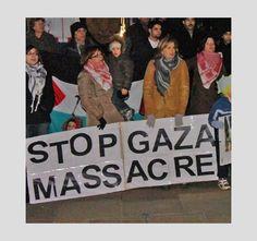 Town Hall (UK) protest over Israeli bombing of Gaza