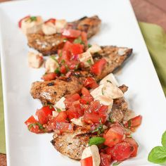 Grilled Chicken Bruschetta- skip the onion and garlic and its fodmap awesome!