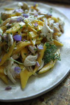 Mango Chicken Salad with Honey Lime Dressing