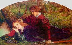 """Avalon Camelot King Arthur:  """"The Brave #Geraint,"""" by Arthur Hughes."""