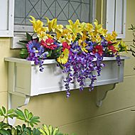 We have a huge selection of self-watering PVC window boxes. Our no rot PVC window boxes and window planters are on sale and ship fully assembled. All our flower boxes come in white but can be painted. Railing Flower Boxes, Window Box Flowers, Cottage Windows, Garden Windows, Pvc Windows, Window Planter Boxes, Outdoor Planters, Decks And Porches, Plant Design