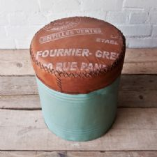 Oil Drum stool in Duck Egg Blue
