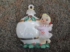 Vtg-10-LOT-XMAS-Japan-Angel-Bell-Norcrest-Spaghetti-Midwest-Napco-Midwest-Girl
