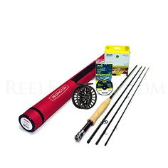Redington Classic Trout 386-4 Fly Rod Outfit (8'6', 3wt, 4pc) ** Visit the image link more details.