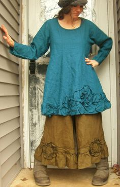 CUSTOM ORDER for Heidicrowell Brown Linen by sarahclemensclothing