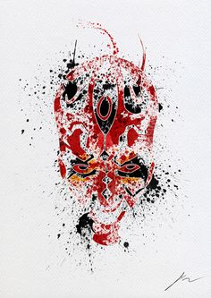 Darth Maul Face Art