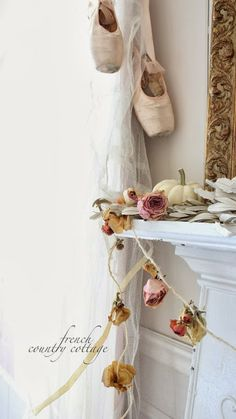 FRENCH COUNTRY COTTAGE-Dried flower garland DIY