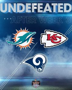 Now Rams and Chiefs are the only left that are undefeated coming into Week 5 of the 2018 season! Sport Football, Football Players, La Rams, Week 5, Miami Dolphins, Adult Humor, Nfl, Sports, Hs Sports