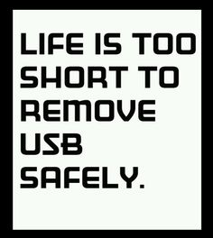 Remove usb safely