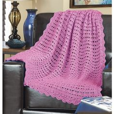 Free Summer Breeze Throw Pattern - Soft and lacy crochet throw will accent any room in your house.