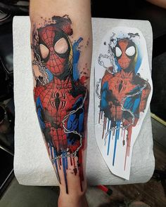 Spiderman tattoo done by To submit your work use the tag And don't forget to share our page too! Video Games Consoles Console Mario Zelda Nintendo Switch Playstation Xbox One Retro Nostalgia Xbox Atari NES SNES Sega Genesis Master System Game Gear Gamebo Gamer Tattoos, Marvel Tattoos, Cartoon Tattoos, Anime Tattoos, Body Art Tattoos, Sleeve Tattoos, Mens Tattoos, Deadpool Tattoo, Spiderman Tattoo