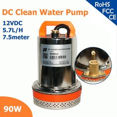 (36.18$)  Buy here - http://ai7jw.worlditems.win/all/product.php?id=32635969134 - 90W 12V DC 120VA clean water pump 2 inch outlet max flow 5.7 lift, max head 7.5 meter high CE approved