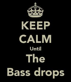 and when the bass drops....let loose!
