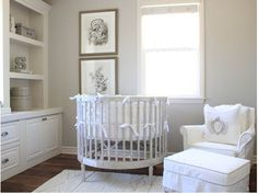 BDG Style: Neutral Nursery - love the circular crib