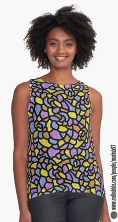 Mosaic Tiles Random Shaped Women's Contrast Tank Tops http://www.redbubble.com/people/markuk97/works/22982516-mosaic-tiles-random-shaped?asc=t&p=contrast-tank via @redbubble