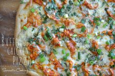 The Best Buffalo Chicken Pizza - Sarcastic Cooking