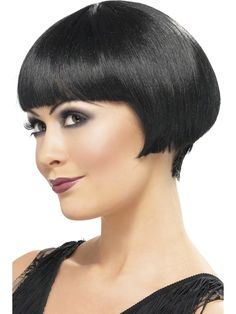 Wig Cap Nude Breathable Essential Accessory for Fancy Dress Wigs Ladies Style Bob Wig in Black. Bob Wig by Smiffy's Ladies Fancy Dress. Fancy Dress A to Z. Short Hair Cuts For Women, Short Hairstyles For Women, Girl Hairstyles, Short Hair Styles, 1920s Wig, 20s Hair, Bob Cut Wigs, Fancy Dress Wigs, Corte Bob