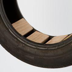 Wooden Seat Tire Swing