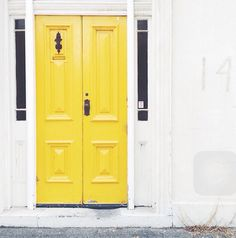 Love this yellow door found in Port Melbourne