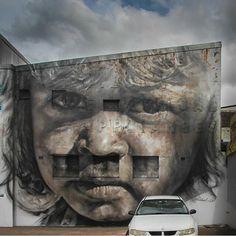 Guido van Helton, artist  ....favourite shot of this piece in Redfern by @heredownunder  #streetart #redfern
