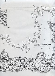 Disegni Cantù da riviste varie (Bolillos) Bobbin Lace Patterns, Embroidery Patterns, Hand Embroidery, Point Lace, Needle Lace, Cutwork, Outline, Tapestry, Floral