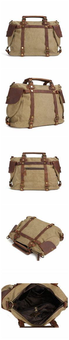 86993d5b25 Flash Sale Canvas Leather Bag Briefcase Messenger Shoulder Bag Laptop Bag  1801M