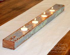 DIY Barn wood candle holder | best stuff