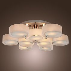 Acrylic Chandelier with 9 lights (Chrome Finish) – USD $ 231.99