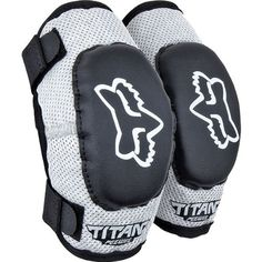 Fox Racing PeeWee Titan Youth Elbow Guard MotoX/Off-Road/Dirt Bike Motorcycle Body Armor - Color: Black/Silver, Size: Youth (ages 6-9)