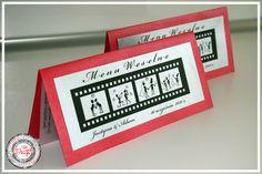Menu weselne - czerwony ślub / Red Wedding www.cardsdesign.pl