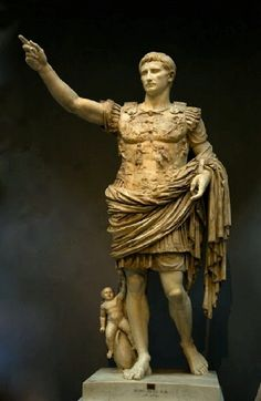 Statue of August from Prima Porta. Rome, Vatican Museums, Chiaramonti Museum, New wing, (Photo by Sergey Sosnovskiy). Ancient Rome, Ancient History, Art History, Roman Sculpture, Sculpture Art, Visit Rome, Le Vatican, Rome Antique, Auguste