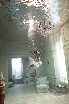 Water room. Photo shoots like this must be crazy expensive but I would kill to be in one.
