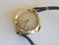 This wonderful Buren Retro vintage ladies wrist watch, presented by JoysShop for consideration, features gold lettering, a second hand, and 10k rolled gold plate.  The watc... #teamlove #voguet