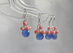 Reserved listing Turquoise and coral earrings by BohemianPleasures, $50.00