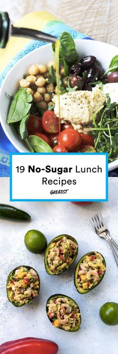 Don't let sugar sneak into your midday meal. Eat these to keep you from serious afternoon cravings! #greatist https://greatist.com/eat/sugar-free-lunch-recipes