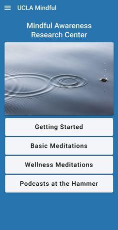 UCLA Mindful App Basic Meditation, Meditation Practices, Mindfulness Meditation, Ucla Health, Mental Health, Physical Condition, Health App, Stress Management, Apps